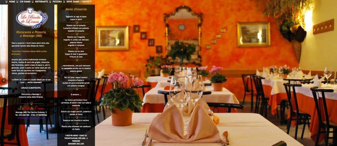 sito internet ristorante mezzago monza e brianza