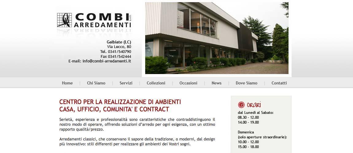 sito web arredamenti Galbiate (Lecco)