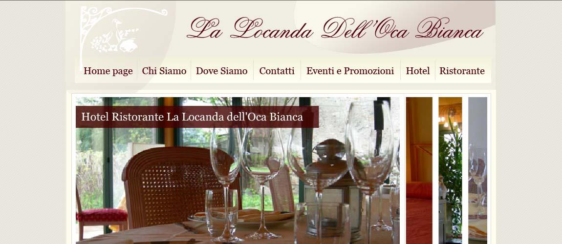 Sito web hotel ristorante Como : La locanda dell'oca bianca