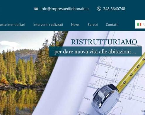 sito internet impresa edile agenzia immobiliare