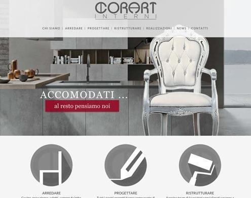 sito web interior design arredamento desio