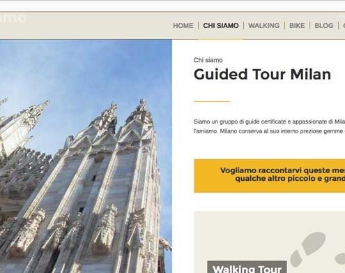 sito web guide turistiche milano