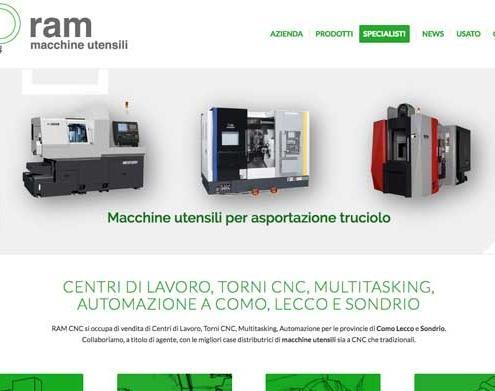 sito web macchine utensili RAM