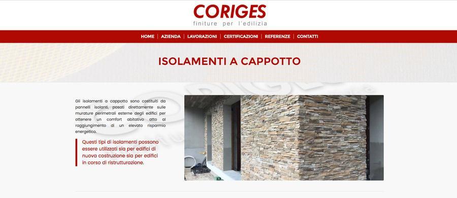 Sito web coriges settore edilizia carnate monza brianza for Sito web di progettazione edilizia
