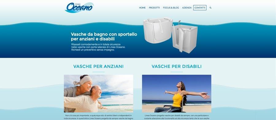 Restyling Sito Internet Linea Oceano Vasche Con Porta SEO