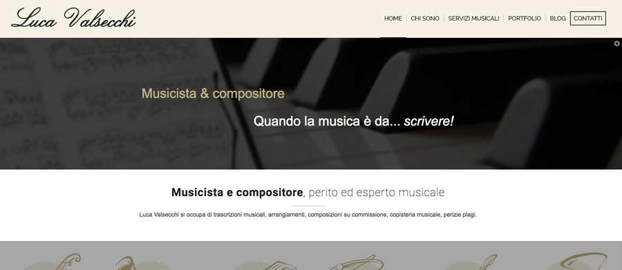 Restyling sito web Luca Valsecchi Lecco