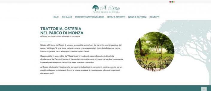 sito internet al dosso trattoria monza