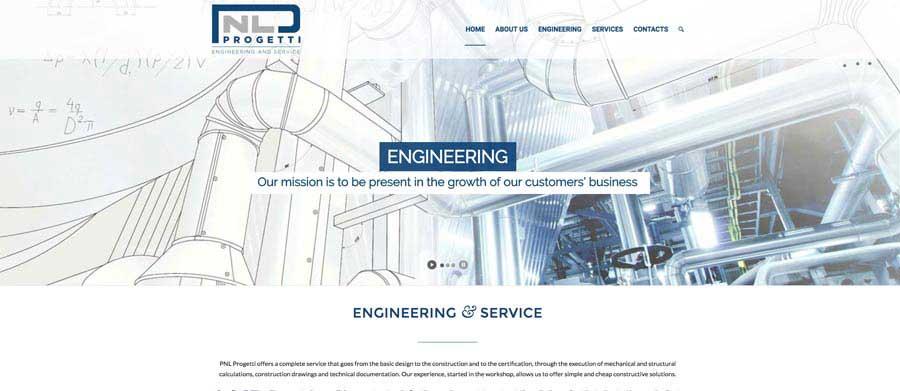 Sito web azienda engineering