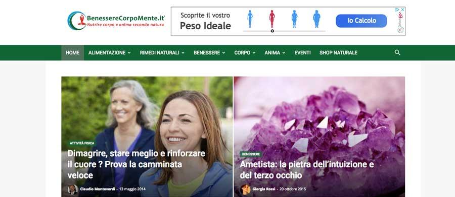 Realizzazione sito web Villasanta Benesserecorpomente