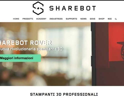 Rifacimento sito web Sharebot