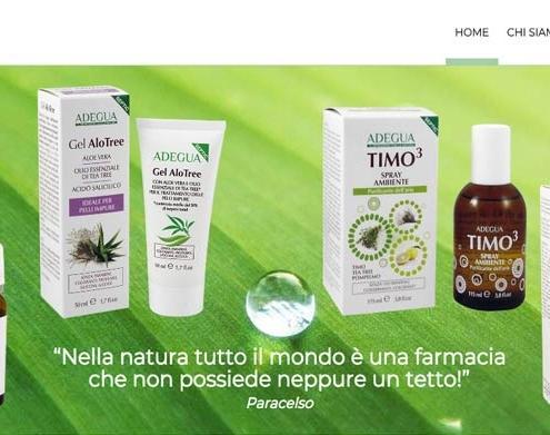 Realizzazione sito web Adegua Cosmetici