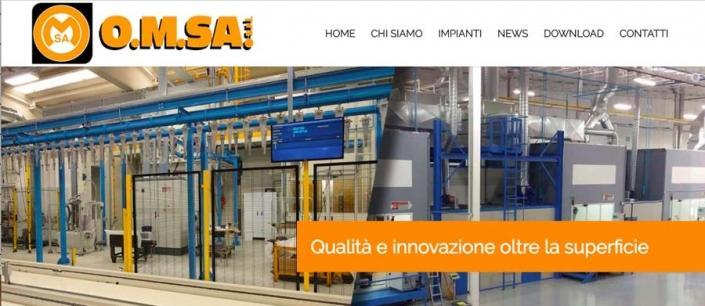 Creazione sito web Omsa Besana Brianza