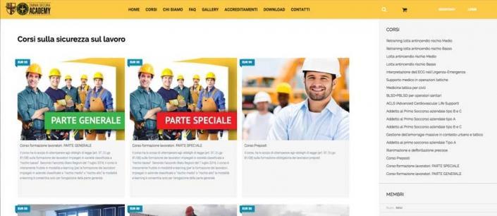 Realizzazione Sito Web Omnia Academy Corsi Formazione