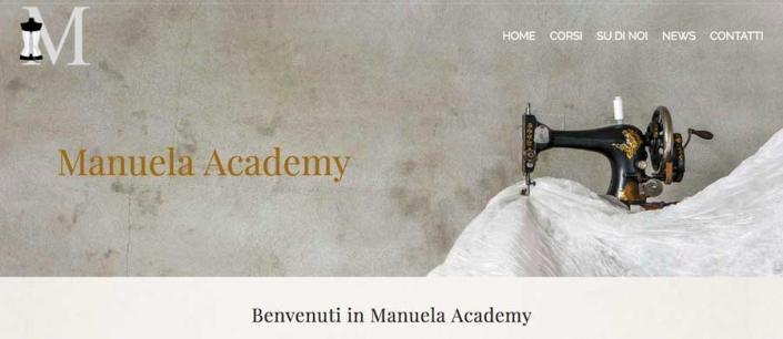 Sviluppo sito web Manuela Academy di Monza
